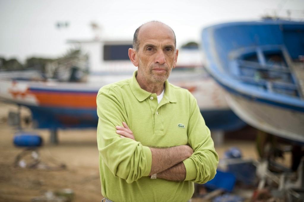 Il giornalista della Stampa Domenico Quirico ritratto a Lampedusa.    ANSA/ANTONELLO NUSCA